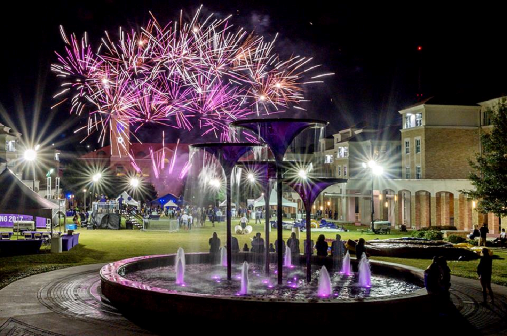 A beautiful shot of Texas Christian University's Homecoming 2017 festivities!